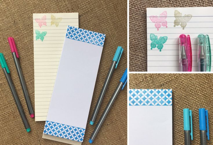 Make your own magnetic notepad