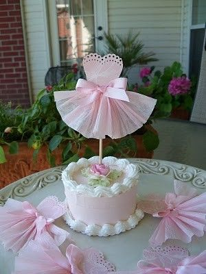 Six Pretty in Pink Cupcake Toppers by JeanKnee on Etsy, $12.00