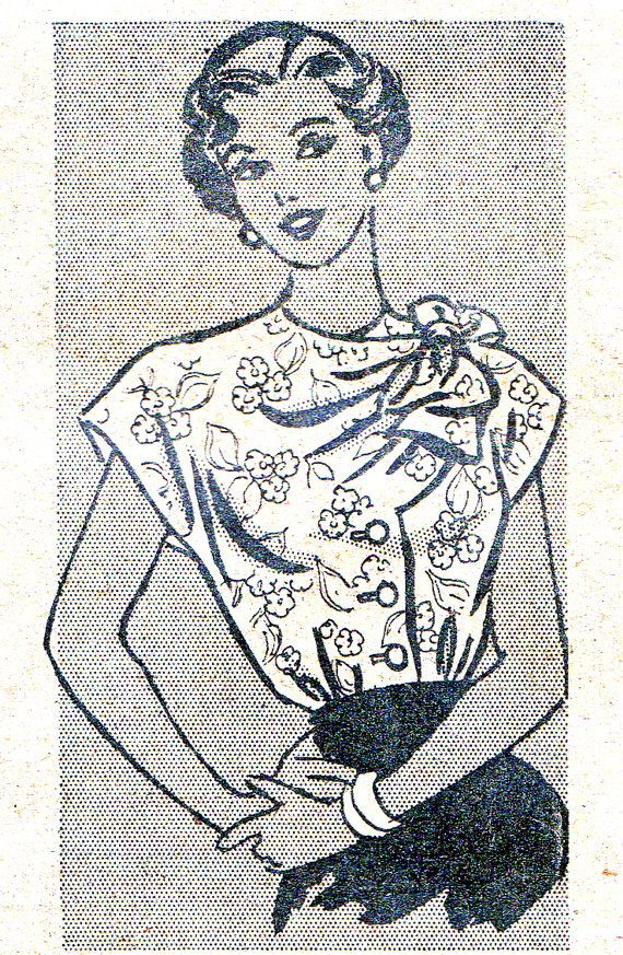 1940s Blouse Pattern Marian Martin 9093 Womens Cap by paneenjerez, $25.00