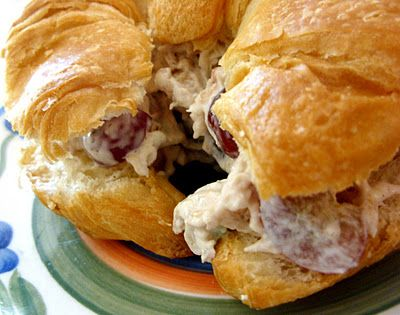 Chicken Salad with Sweet Red Grapes (makes 24 sandwiches...great for pot luck)