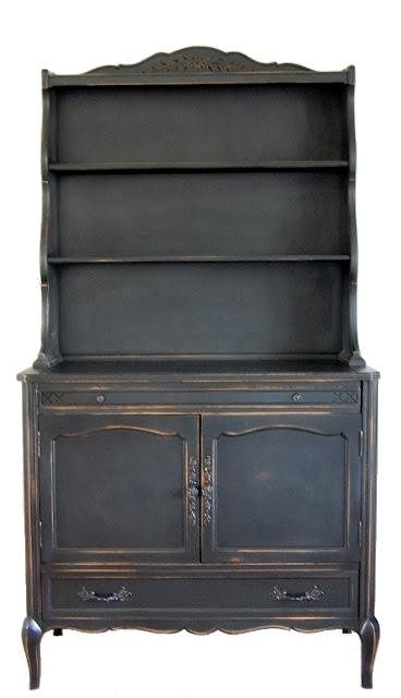 french country painted furniture techniques | black french cabinet with painted hardware a stunning black painted