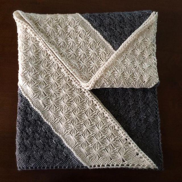 Ravelry: TrishKnits' Amberle Shawl, pattern by Shannon Cook, yarn: Nurtured by Julie Asselin