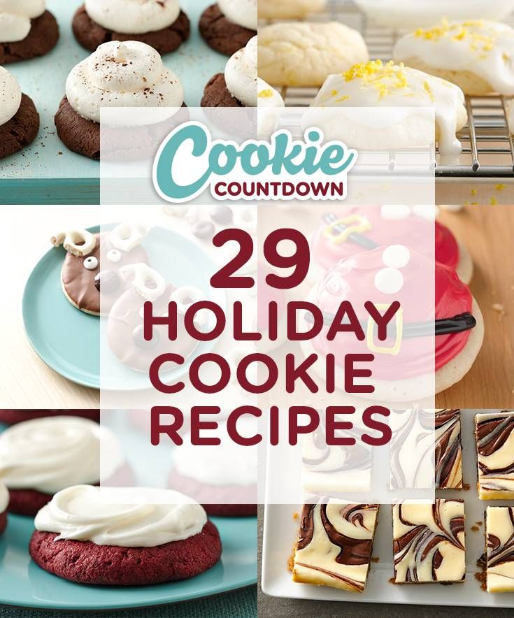 29 Holiday Cookie Recipes you have to see to believe! Sign up to receive the cutest cookie recipes every day leading up to Christmas. Spread holiday cheer with sugar, spice and cookies galore! Perfect for if you are hosting a cookie swap, exchange or party.