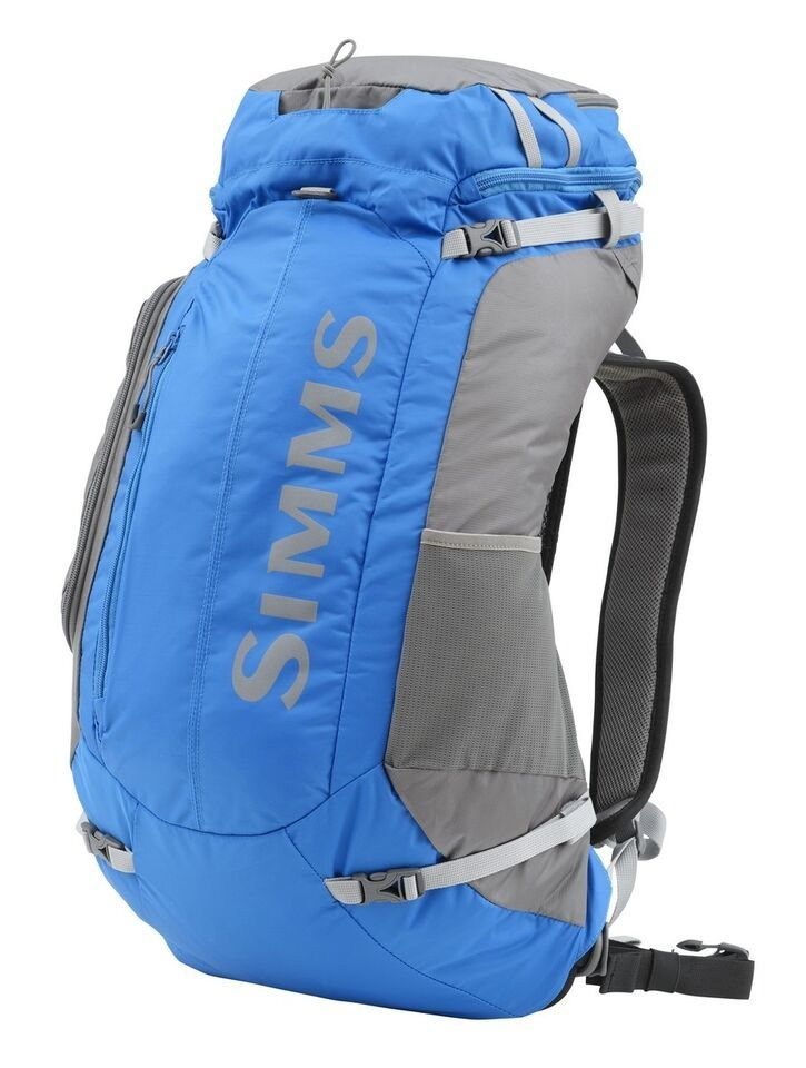 The Simms Large Waypoints Backpack is the ultimate fly fishing backpack when it comes to versatility, functionality, and durability.  This ultra light backpack has an aluminum frame, which makes it incredibly sturdy; however, it is incredibly light, weighing in at 34 ounces.  It also has a removable waistband, as well as a vented back panel for all day comfort and breathability.  There is a rod tube sleeve and exterior load straps for packing in additional gear��great for overnight…