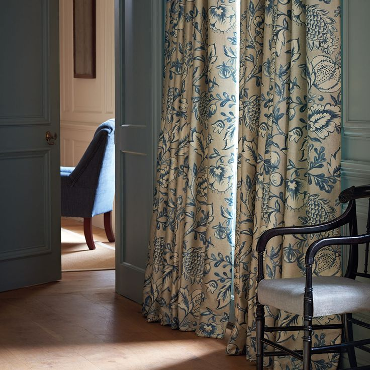 The design inspiration for Winterbourne fabric came from an ancient wall painting [possibly 16th century].Melissa White, expert in this field, was commissioned to paint it, in the soft gesso textures and subtle tonality, which are typical of her work.