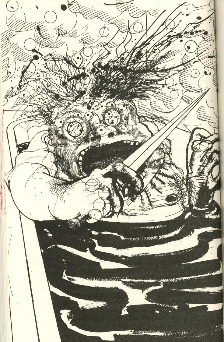 Ralph Steadman- Dr. Gonzo in the tub