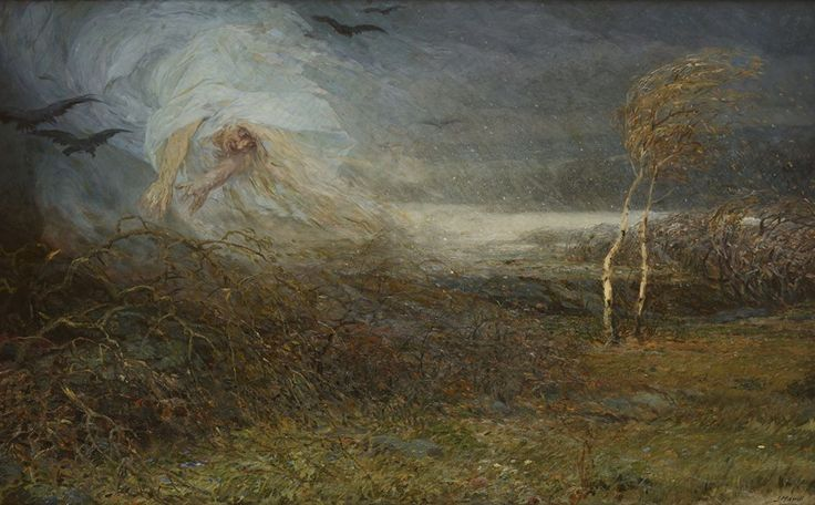 Josef Mandl (1874–1933), Vichřice (Zima přichází) - Windstorm (Winter is coming), 1903-1904