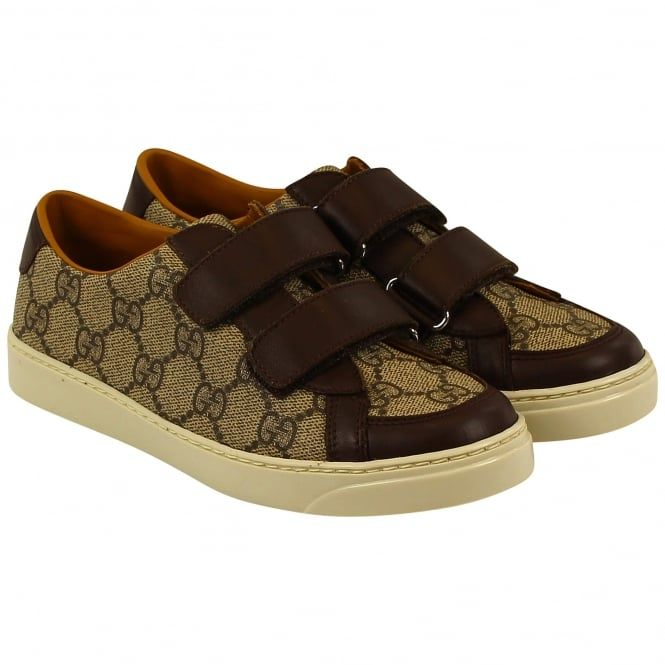 Gucci boys brown trainers. Also available in navy. #gucci #trainers #boys