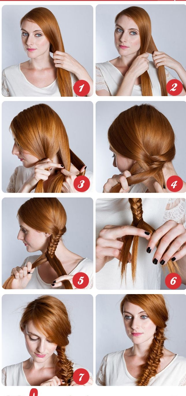 Best Hair Step By Step Images On Pinterest Beautiful - Braided hairstyles for short hair step by step