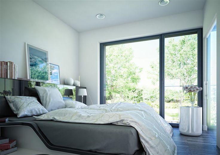 Von Bett direkt in den Garten rollen.   #Schlafzimmer # Fertighaus #BienZenker #Haus