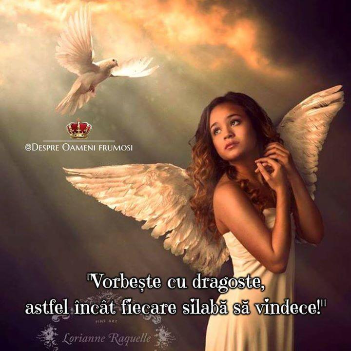 """""""Vorbește cu dragoste astfel încât fiecare silabă să vindece!""""  Fiți buni și plini de Iubire...  Atragi întotdeauna ceea ce EȘTI...  Zi frumoasă prieteni... plină de Iubire... Trăire... și de #oamenifrumosi ! _________ The most beautiful posts:   Despre Oameni frumosi    http://ift.tt/2xyywKb"""