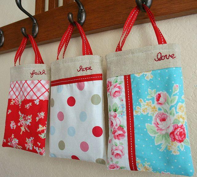 three tiny bags