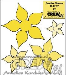 Crealies Creative Flowers no. 17 (stans - die - Stanzschablone - pochoir) http://www.crealies.nl