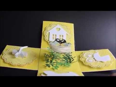 Poligon domowy: Ślubny exploding box z ptaszkami