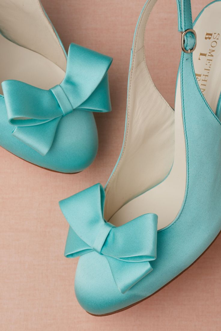 Wedding Shoes: Bow-Topped Sling-backs// Available on BHLDN