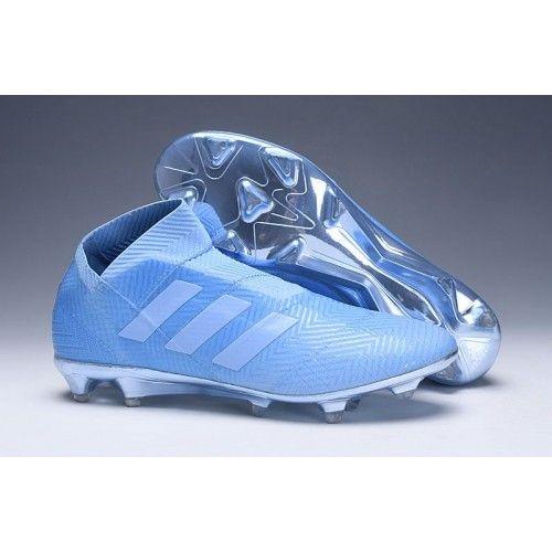 buy popular e9c51 1e3ee Modelos Botas De Futbol Adidas Nemeziz 18+ Spectral Mode FG Violeta Azul  visit us