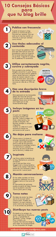 10 consejos para que tu #Blog brille #infografia en español