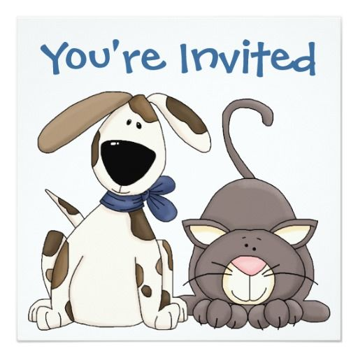 410 best Dog and Cat Birthday Party Invitations images on Pinterest