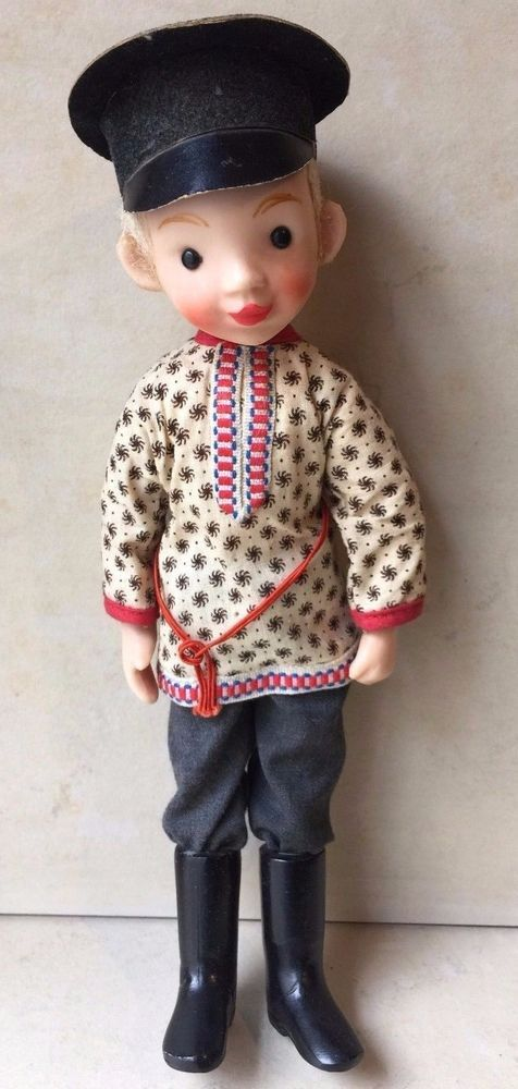 Vintage Collectible Retro Russian Communist USSR Cute Bolshevik Clothes Boy Doll #Unbranded #DollswithClothingAccessories