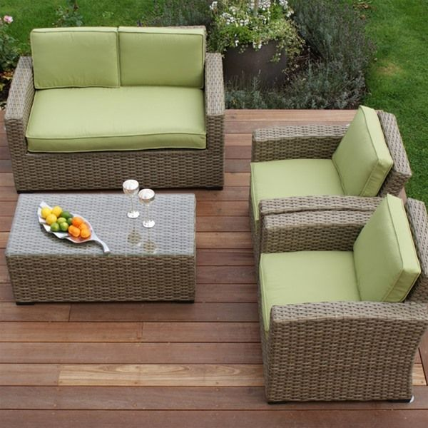 Maze Rattan Natural Milan Kingston 2 Seat Sofa Set