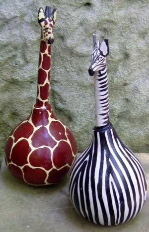 gourds painted | Kwetu Handmade - African inspired homewares and drums made from gourds