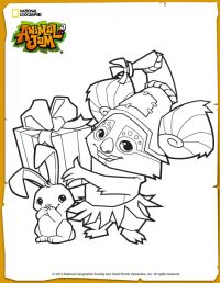 Animal Jam Cosmo Coloring Page