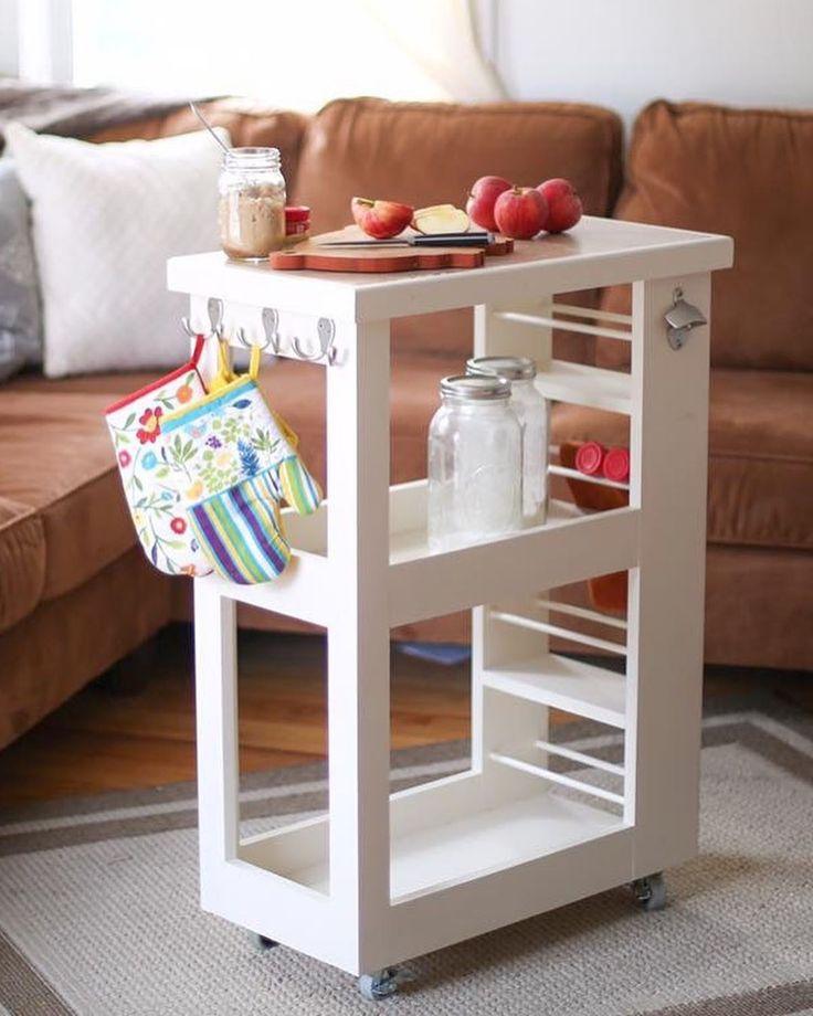 kitchen island on wheels 📸: @bridgetmcdonaldphotography