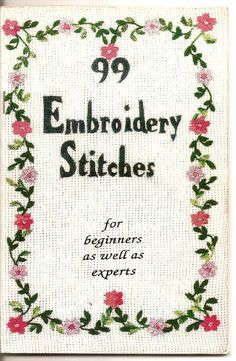 99 Embroidery Stitches - downloadable file