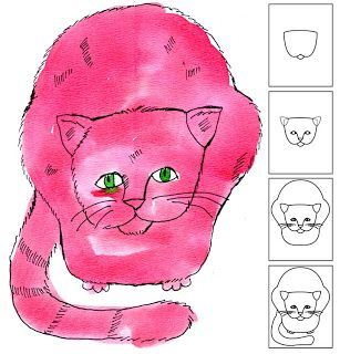 Art Projects for Kids: Warhol Cat Drawing:
