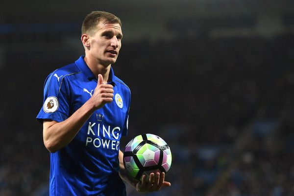 Marc Albrighton of Leicester City looks on during the Premier League match between Leicester City and Sunderland at The King Power Stadium on April 4, 2017 in Leicester, England.