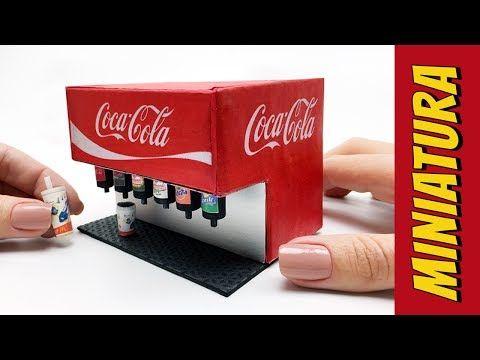How to Make Coca Cola Soda Fountain Machine for Barbie Dolls - YouTube