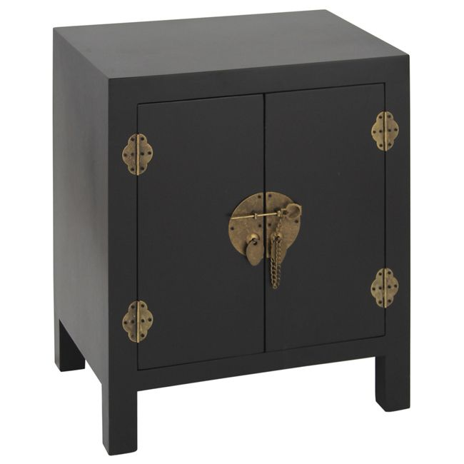 NEW! Rama & Sita Black Bedside Cabinet  |  Bedside Tables  |  Tables  |  French Bedroom Company