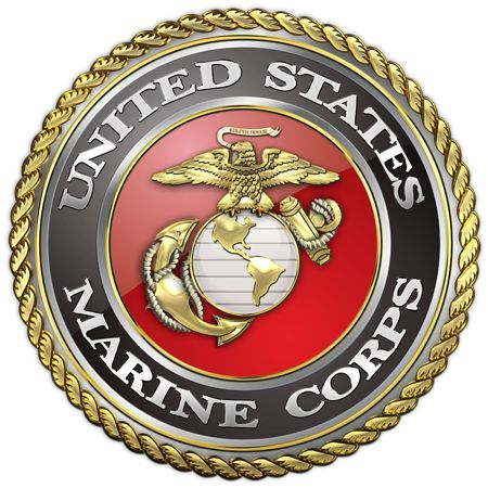 Marine Corps Birthday Cake With Rank