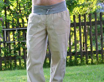 Jeans Jogginghose beige Männer Größe W34