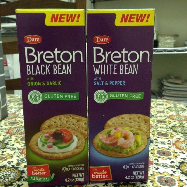 Gluten-Free Breton Crackers: White Bean with Salt & Pepper and Black ...