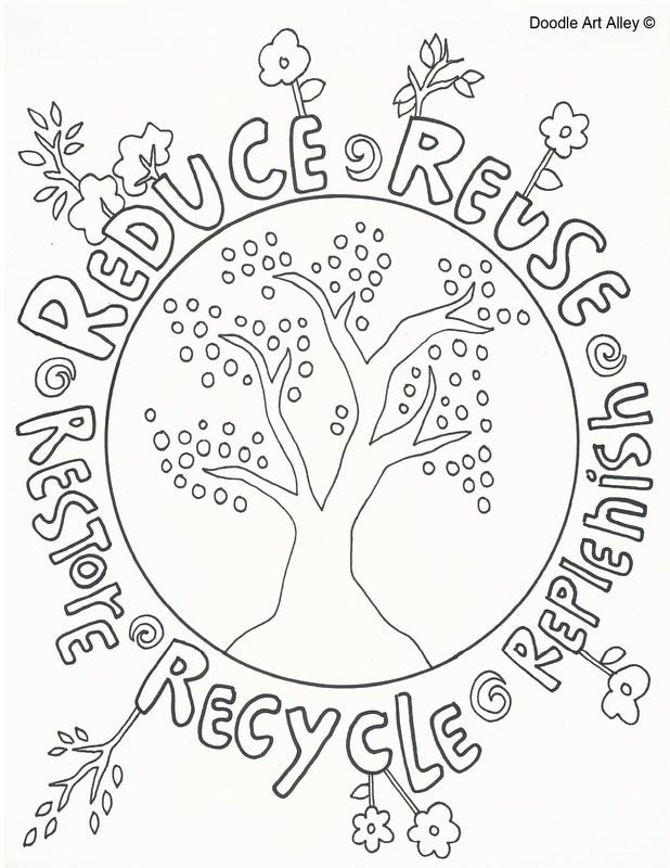 Earth Day coloring pages from Doodle Art Alley.  Print and Enjoy!
