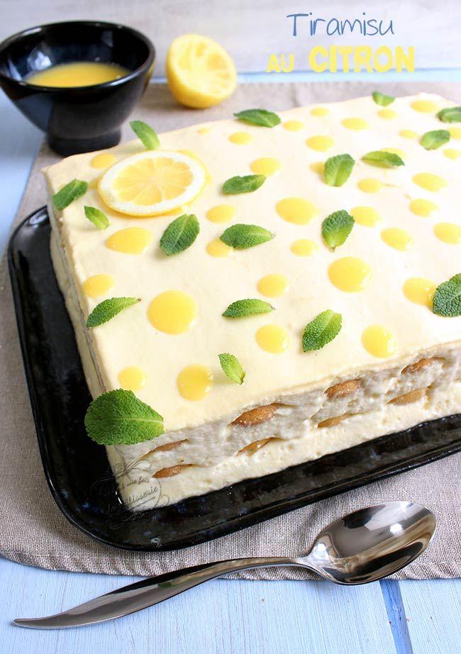 Le tiramisu citron et Limoncello ! Une recette fraîche, originale et vraiment délicieuse :)