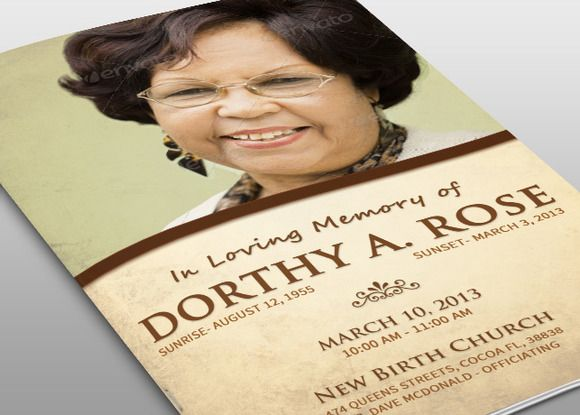 104 best Funeral Program Templates images on Pinterest Funeral - funeral poster templates