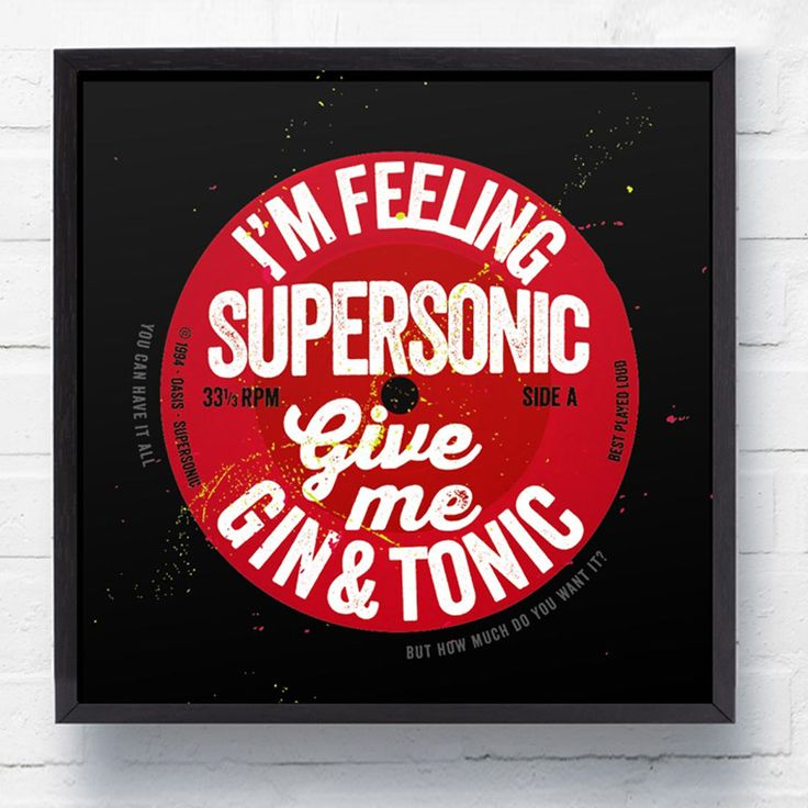 'SUPERSONIC' Oasis LP Wall Art Canvas Print - For Music Lovers - Gifts For... - The Lost Lanes
