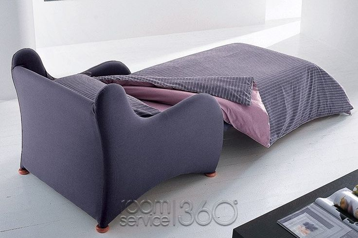Magica Modern Sleeper Chair in Bed Position by Bonaldo