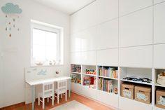 Door open besta kasten laag te plaatsen kunnen kinderen makkelijk zelf opruimen