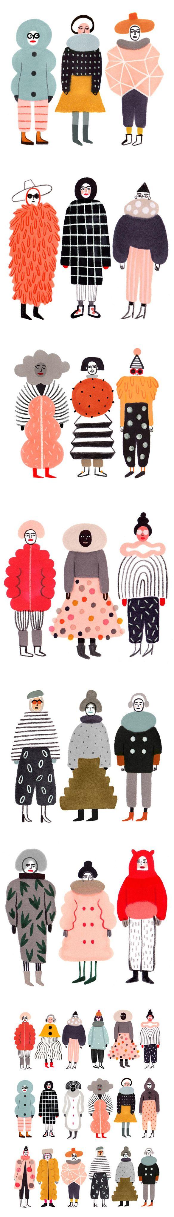 """""""stay warm"""" series by ilka mészely <3"""