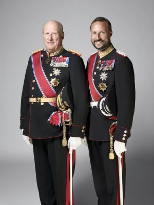 HM King Harald and HRH Crown Prince Haakon of Norway.