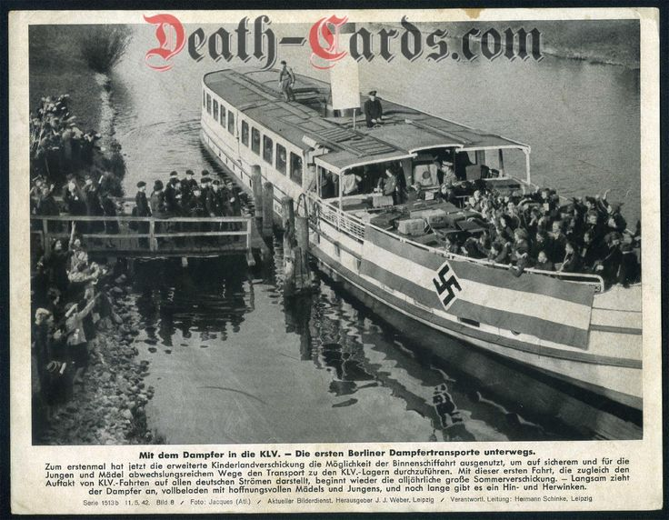 orig. WWII Press Photo - With the steamer in the KLV - Kinderlandverschickung 1942 - Date of publication: May 11, 1942