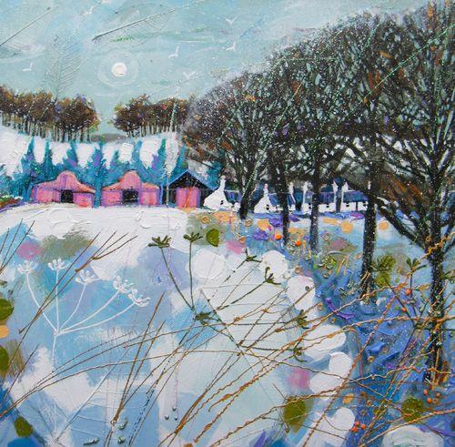 """Snowy Farmstead"" ...  by Deborah Phillips -  Scottish"