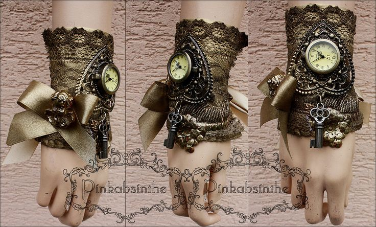 Cherub watch cuff by Pinkabsinthe on DeviantArt
