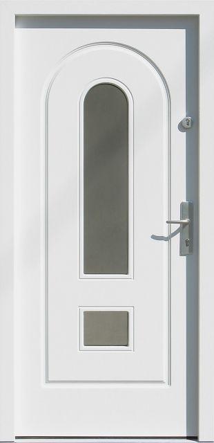 Drewniane wejściowe drzwi zewnętrzne do domu z katalogu modeli klasycznych wzór 571s3