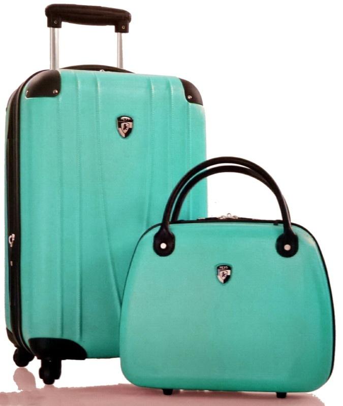 My new luggage! Thanks @Nancy Gantzkow!!: Cosmetic Case, Baggage Claim, Handbags Purses Luggage, Shit Suitcases, Turquoise Luggage New, Travel, Suitcase Sets