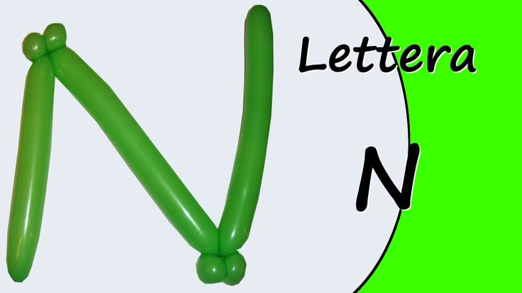 Video tutorial on how to make the letter N with balloon twisting. Learn the alphabet with balloons modeled #alphabet #letterN