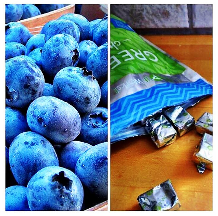 20 cartons of blueberries to the left vs 2️⃣ Green Chews on the right⁉️ YES, 2️⃣ of our It Works Green Chews = 20 cartons of blueberries ‼️ Your entire #family will be snacking their way to better #health with a deliciously sweet blend of fruits & veggies in a super soft chew‼️ ✅ Packed with antioxidants! ✅ Supports healthy nutrition & digestion with prebiotic dietary fiber! ✅ Boosts your body's natural defenses against free radical damage! ✅ Fueled by Pterostilbe